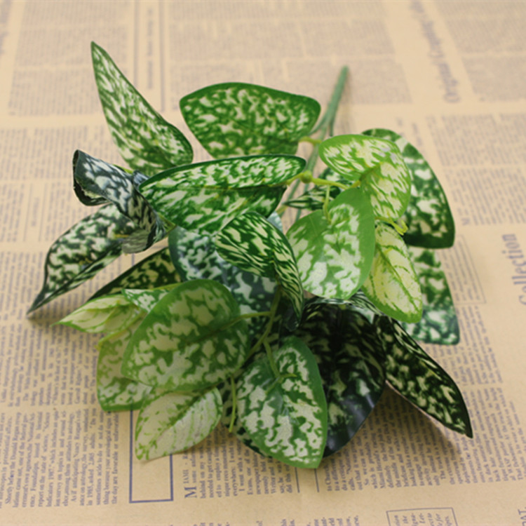 <font><b>New</b></font> <font><b>Arrival</b></font> Plastic Leaf <font><b>White</b></font> <font><b>green</b></font> Red Artificial Greenry Plant silk <font><b>flowers</b></font>