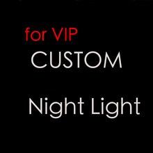 Пользовательские 3D ночник 7 цветов светодио дный настольная лампа сенсорный выключатель USB Новый лампа Дети Спящая Свет для друзей Рождественский подарок
