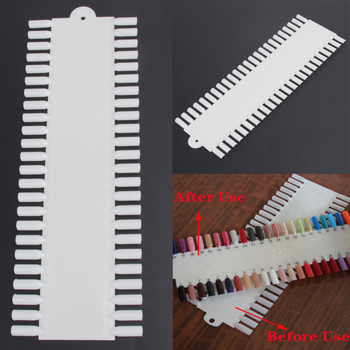48 Grids Acrylic False Nail Art Tips Nail Polish Color Display Wheel Practice Show Board Holder Shelf Nails Tools image