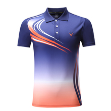 Новая быстросохнущая одежда для бадминтона, Спортивная рубашка, рубашка для настольного тенниса, теннисная рубашка для мужчин/женщин, теннисные майки 3862AB