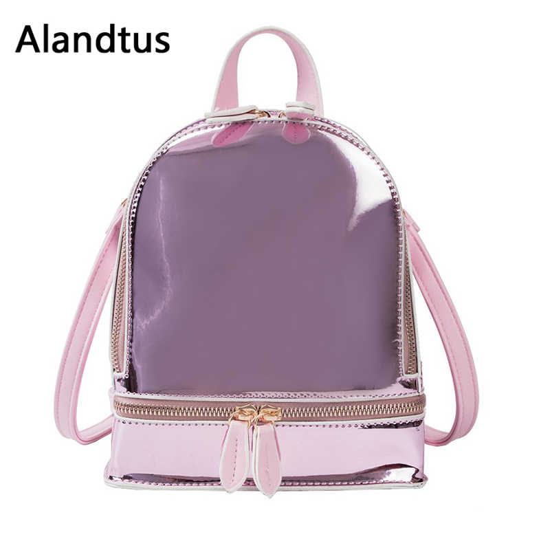 Alandtus Модный повседневный женский рюкзак 2019 высококачественные Рюкзаки большой емкости женская прозрачная Дорожная сумка на плечо