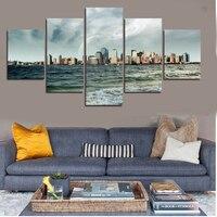 5 Stücke Hohe Qualität Billige Art Bilder Meer Und Himmel große HD Moderne Home Decor Abstrakte Leinwand Druck Malerei Unframed