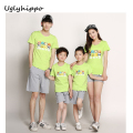 Cotton T Shirts Family Matching Clothes 2017 New Fashion Summer Mother Father Baby Family Look Outfits FM14