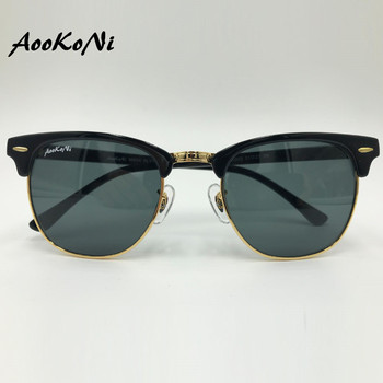 00bea19d64 Gafas de sol de media montura para hombre clásicas de 2019 gafas de sol de  cristal negro con protección UV 400 para mujer gafas de sol clásicas para  Club ...