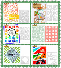 5Pcs Cutting Dies For 2019 Frame Square Metal Scrapbooking Paper Craft Card Making