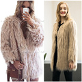 In 2016 the new autumn and winter fur coat long sleeved dress woman floating fur coat long hair coat