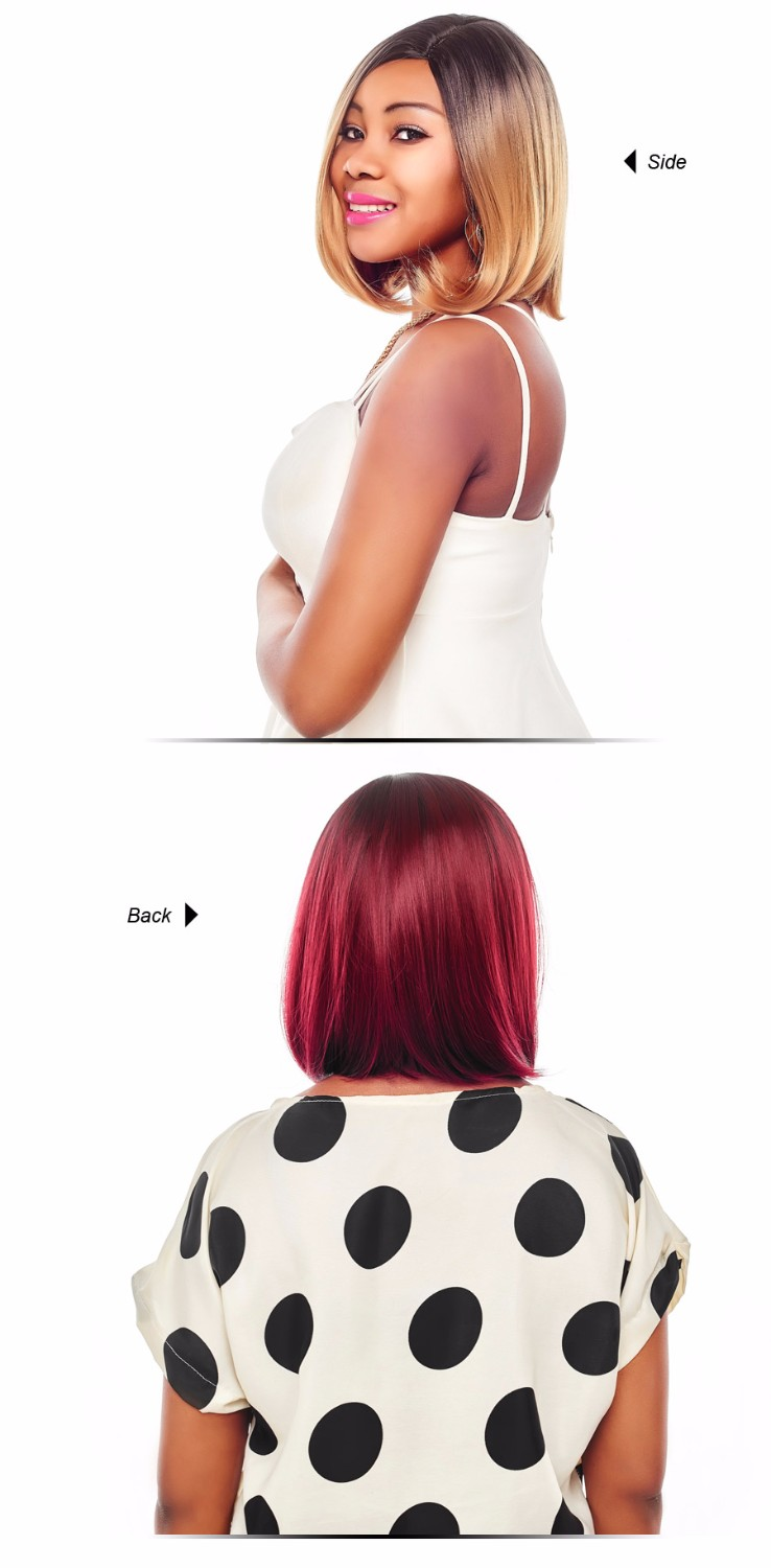 We have Originea Hair Wig Ombre colors Synthetic Hair Short Wigs for Women Black Bob Straight Hair