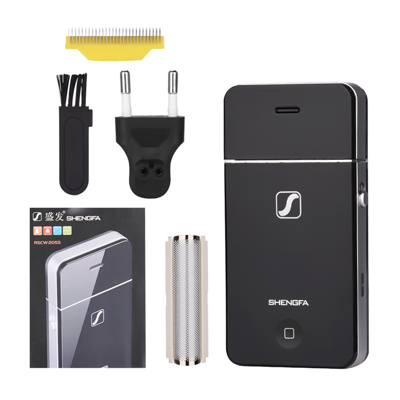Mini Men Electric Shaver Rechargeable Stainless Steel Reciprocating Single Blade Razor Face Care Beard Trimmer Wholesale S44