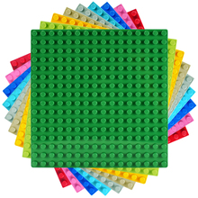 16*16 Dots Base Plates Big Bricks Baseplate Board Compatible Large Particles DIY Building Blocks Sets Toys for Children Gift big particles model building blocks forest paradise house sets children toys diy city bricks compatible with duplo birthday gift