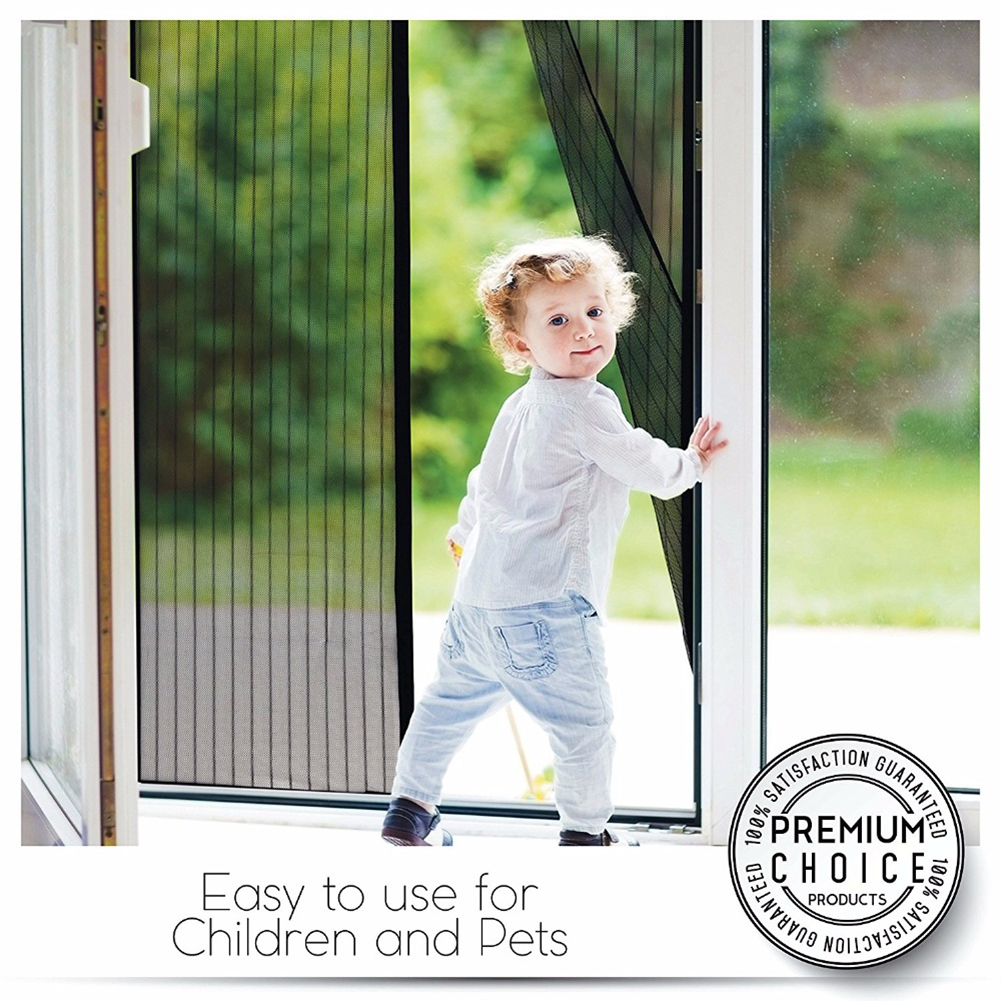 Fly Bug Mosquito Net Door Window Net Mesh Hands-free Magnetic Summer Anti-Mosquito Curtains Encryption Magnets Mosquito Net