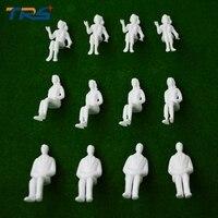 Blanco Figuras 1; 25 modelo arquitectónico escala humana Ho modelo ABS plástico personas