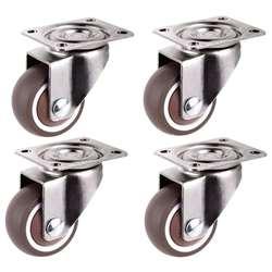 Yhys мини-ролики, диаметр 1 дюйм/25 мм, ультра-тихий колесо для ящиков книжного шкафа