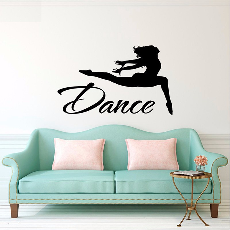 Online Shop Dance Wall Decal   Jumping Dancer Wall Decal Vinyl Stickers  Dance Studio Decor   Girls Gymnastics Wall Art Sports Decor | Aliexpress  Mobile