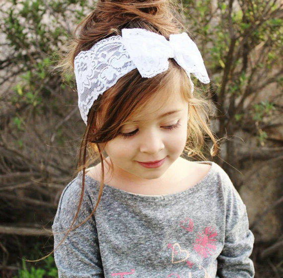 20pcs lot Baby Girl Lace Big Bow Headband -in Hair Accessories from ... 24c721c4db0