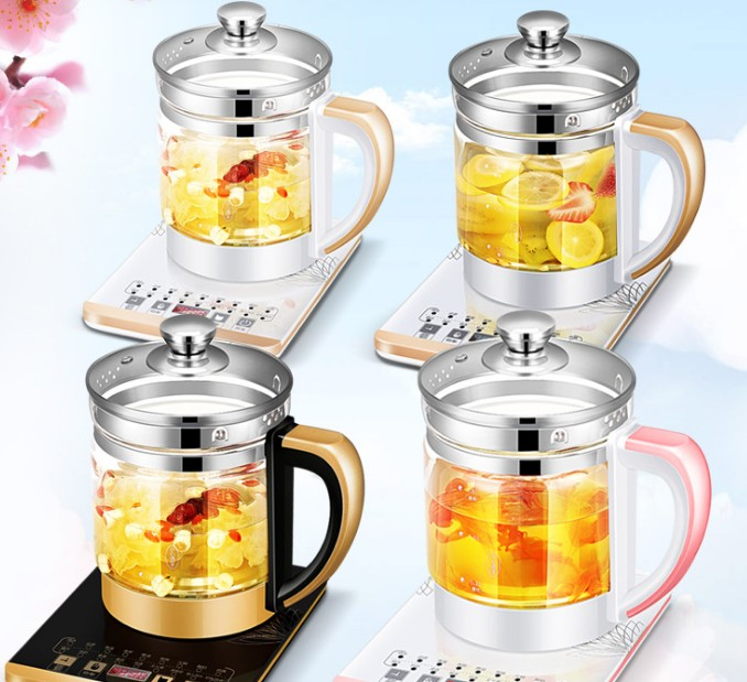 110V health pot Multifunctional electric boiler Cooking pot Fully automatic Thickened glass electric heating kettle bouilloire electrique health pot automatic thickened glass multifunctional electric kettle tea pot flower teapot