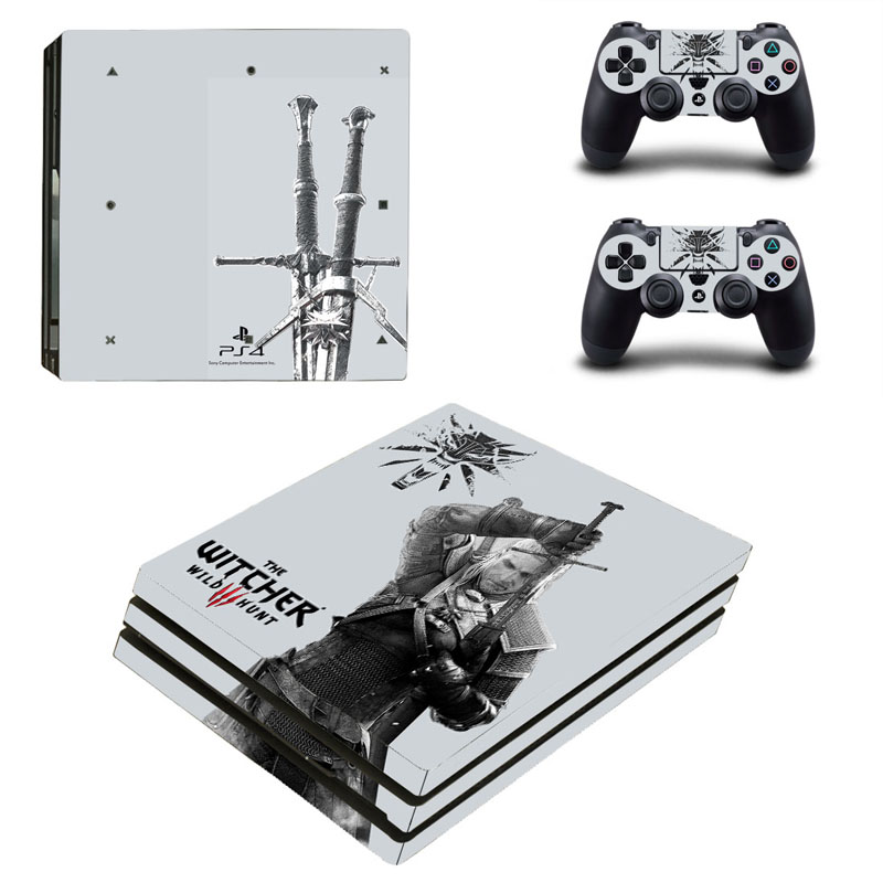 The Witcher Series PS4 Pro Console Sticker For Sony PlayStation 4 Pro Console Vinyl Decal For Ps4 Pro Controller Skin