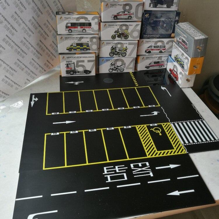 1/64 imitation scene model parking lot assembled floor acrylic garage car show floor proportion scene