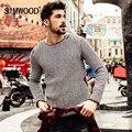 SIMWOOD 2016 Nueva Otoño Invierno Casual Sweater Hombres Moda Jerseys de Punto O-cuello de la manera MY2040