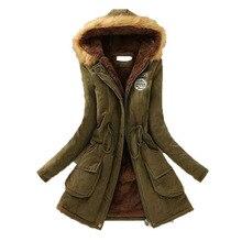 WENYUJH 2019 New Parkas Female Women Winter Coat Thicken Warm Cotton Winter Jacket Womens Outwear Parkas Women Winter Fluffy