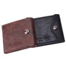 New PU Leather Wallet Multifunctional Short Design Men