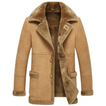 Natural leather fur coats men's winter jacket, thick hot delivery free of charge