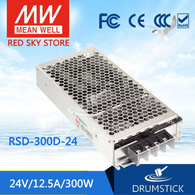 цена на Hot sale MEAN WELL RSD-300D-24 24V 12.5A meanwell RSD-300 24V 300W Railway Single Output DC-DC Converter