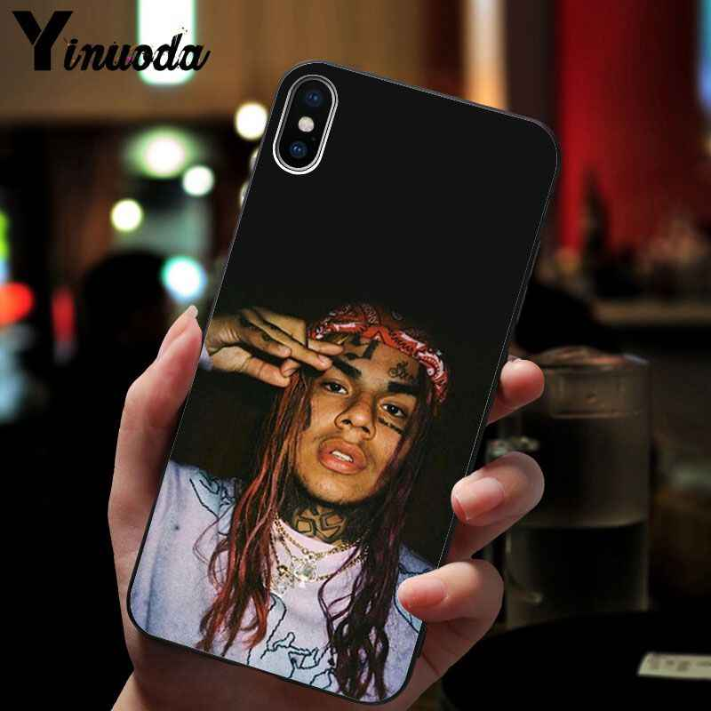 11pro MAX hip hop rapper Tekashi 69 6ix9ine Nieuwigheid Fundas Telefoon Case voor iPhone 8 7 6 6S Plus X XS MAX 5 5S SE XR Mobiele Cover