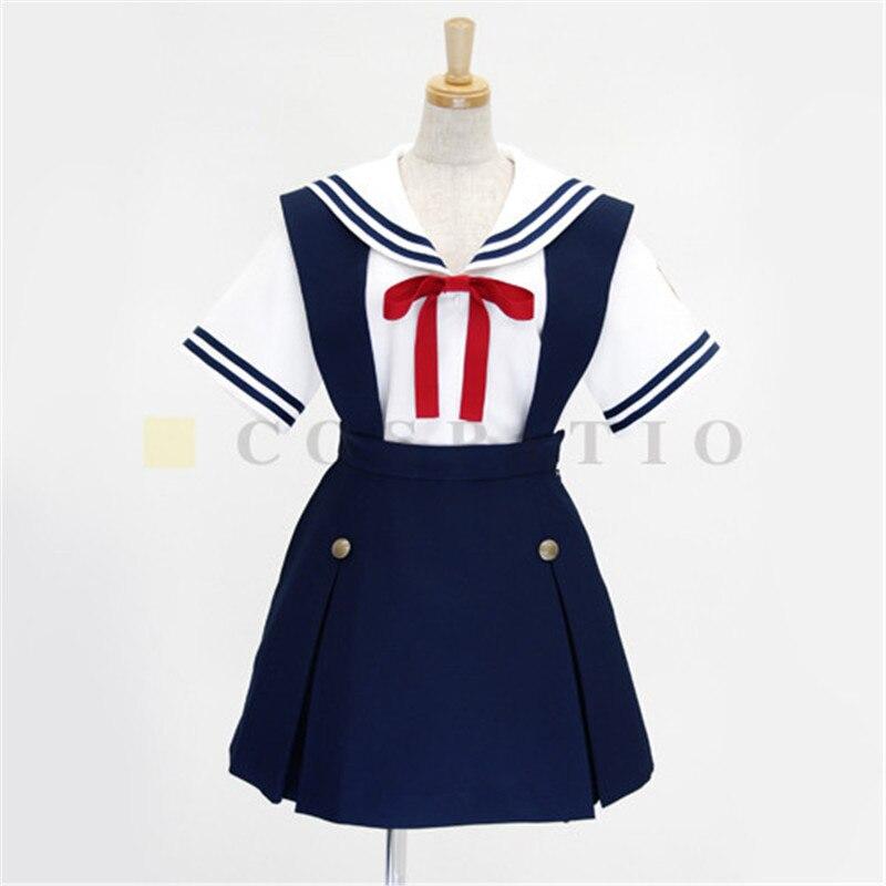 Clannad Косплэй школьная Униформа костюм моряка японская школьная JK элегантный дизайн Лолита униформа