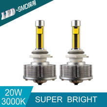 HB3(9005) LED Automotive Fog Lamps External Lights 2SMD Golden Lights Super Bright 3000K 20W DC 10V 40V LED Bulbs