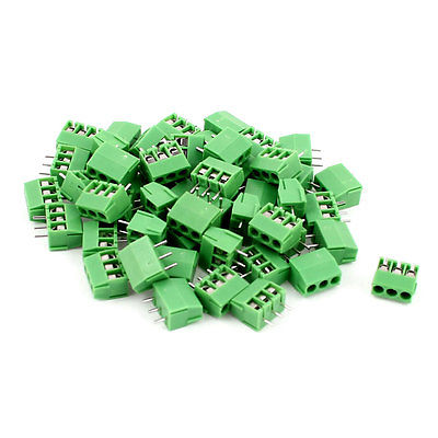 50pcs 3 Position 3.5mm Pitch PCB Screw Terminal Block Connector 10 sets 3 81 4pin right angle terminal plug type 300v 8a 3 81mm pitch connector pcb screw terminal block free shipping