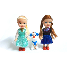 NEW Mini Princess Elsa Anna Olaf Baby Dolls Kids Cartoon Toys For Children Girl Doll Toy The Snow Queen