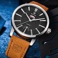 Fashion Watches Men Luxury Brand 3ATM Waterproof Quartz Watch Genuine leather strap Wrist Watch Men Casual Clock relojes hombre