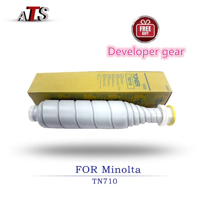 1000g Cartuccia di Toner Per Konica Minolta TN710 Bizhub BH 600 601 750 751 Copiatrice Parti di Ricambio Fotocopiatrice Stampante forniture