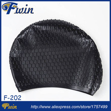 Guangzhou factory supplier high grade silicone bubble swim caps