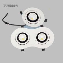 High power Dimmable Led Downlight 7W 10W 15W 20W 2*7W 2*10W 2*15W COB ceiling recessed Lights Warm Cool White Indoor Lighting