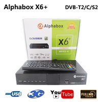 Alphabox X6+ Combo DVB S2/T2/C Satellite TV Receiver Support Cccam Newcamd Mgcamd Powervu Key TV Turner USB Wifi Set Top Box