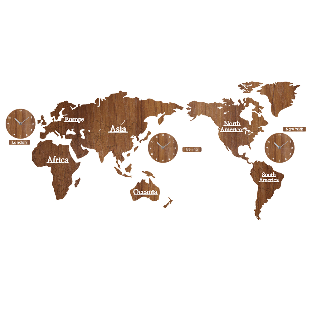 Creative world map wall clock wooden large wood watch wall clock creative world map wall clock wooden large wood watch wall clock modern european style round mute relogio de parede in wall clocks from home garden on gumiabroncs Choice Image