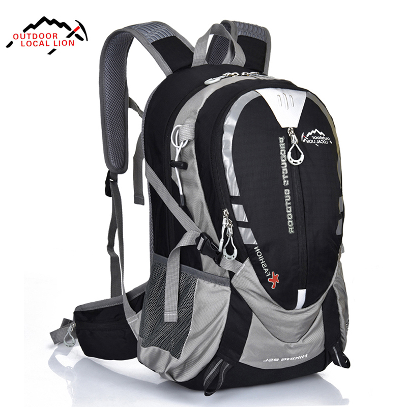 LOCAL LION 25L Waterproof Hiking Backpack Nylon Cycling Travel Backpack Outdoor Sport Climbing Bag 5 Colors outdoor sport bag local lion 5l camping backpack hiking riding climbing bags reflective multifunction bike cycling backpack