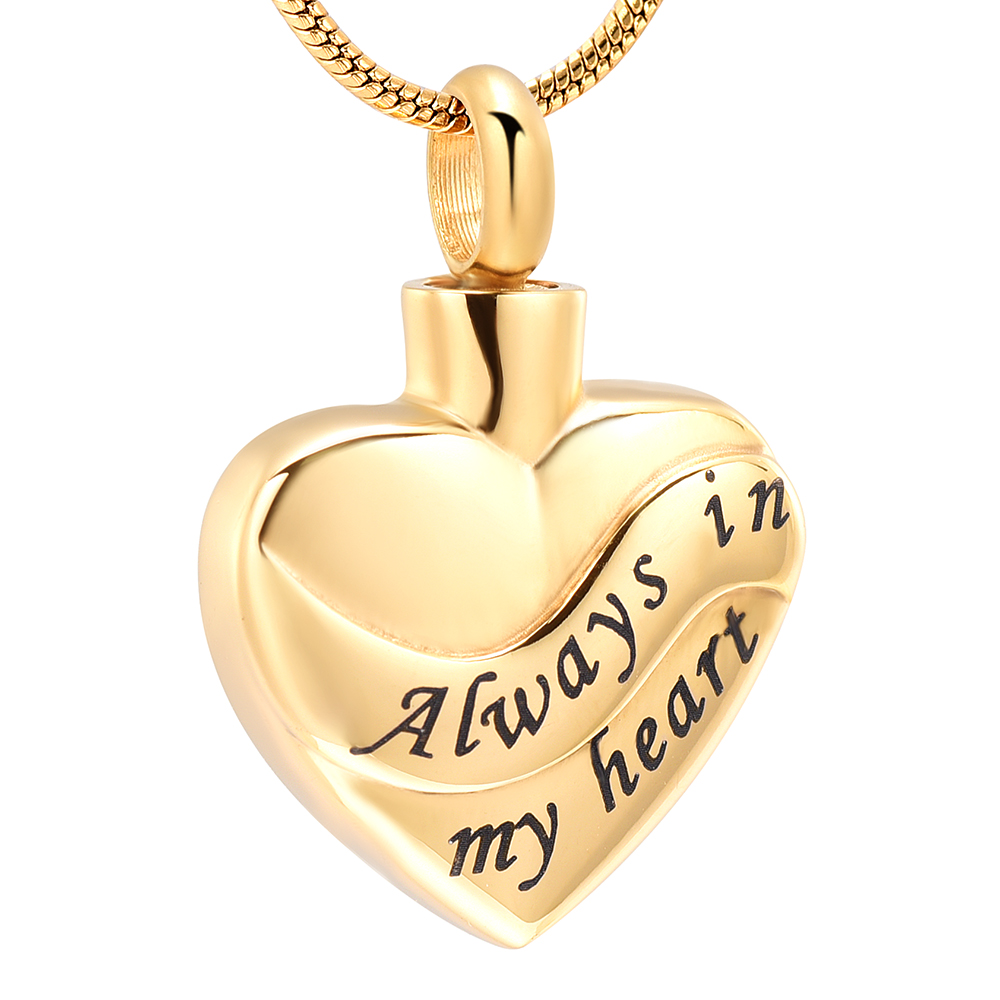 Bulk Cremation Jewelry Always In My Heart Cremation Jewelry For Ashes Pendant