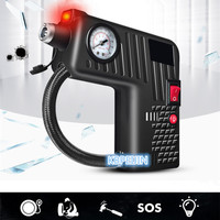 Portable 12V Car Auto Electric Air Compressor Tire Inflator Pump Rescue lamp for Audi a4 a3 q5 q7 a5 b6 b8 a6 c5 b7 Accessories