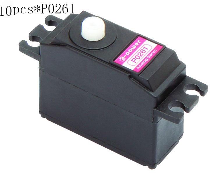 10 pièces k-power P0261 Servo analogique 2 kg JR prise en plastique servo taille Standard servo pour pièce modèle RC