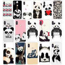 1G a cute little panda Soft TPU Silicone Cover Case for xiaomi redmi 5 plus note 5 pro mi 8