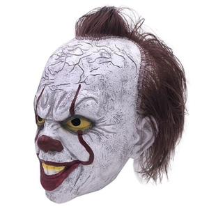 Image 5 - 2019 Movie Stephen Kings It Pennywise Cosplay Mask Latex Halloween Scary Masks Funny Clown Party Mask with Hair Costume Props