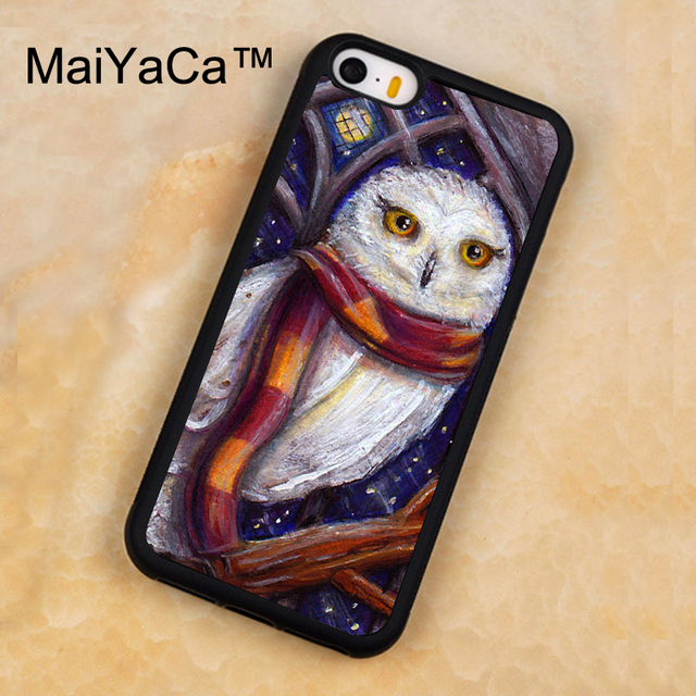 maiyaca hedwig owl harry potter art phone case for iphone 5 5s se