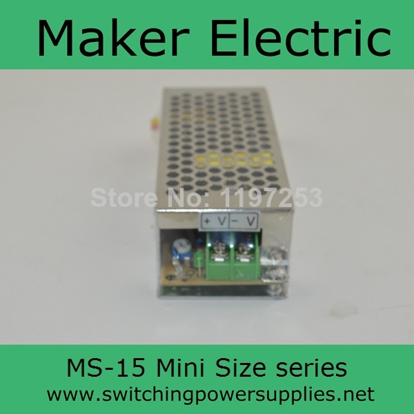 high quality Small Volume Single Output mini size Switching power supply MS-15-15 15w 15v 1a ac dc converter high quality small size mini power supply ms 35 48 35w 48v 0 73a switching power supply with wide ac input range with ce