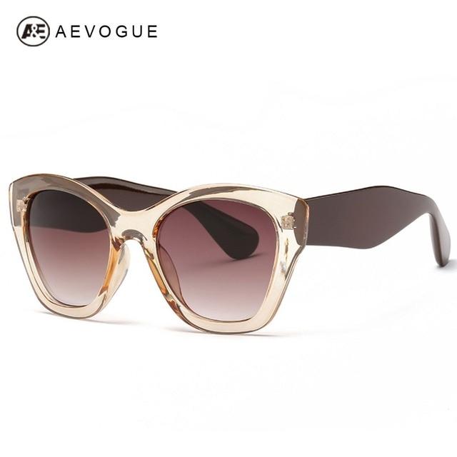 AEVOGUE Najmodniejsze Okulary dla Kobiety Luksusowe Okulary Przeciwsłoneczne Retro 2019 Motyl