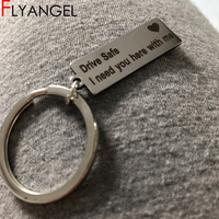 Bulk Stamped Keychain Pendant Drive Safe I need you here High Quality Keyring Car Key Tag Key Holder Jewelry Gifts