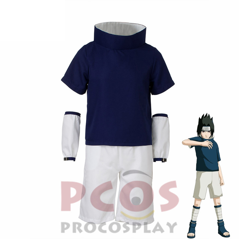 Procosplay Sasuke Uchiha Cosplay costume Naruto Part I  Costume free shipping and high quality costume 002815