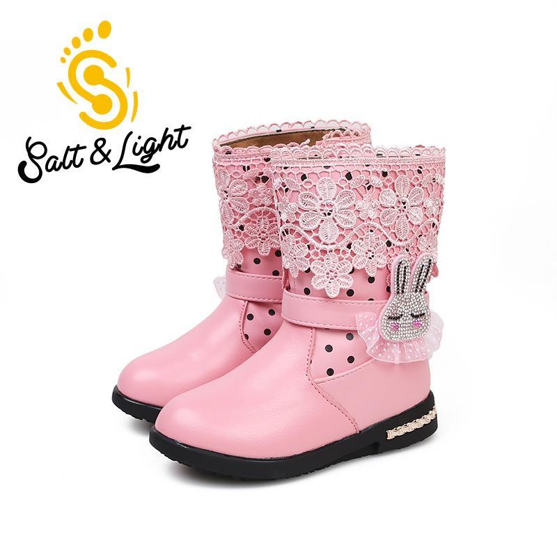 2016 new winter children s boots princess little girls cotton boots cartoon Bunny cotton waterproof snow
