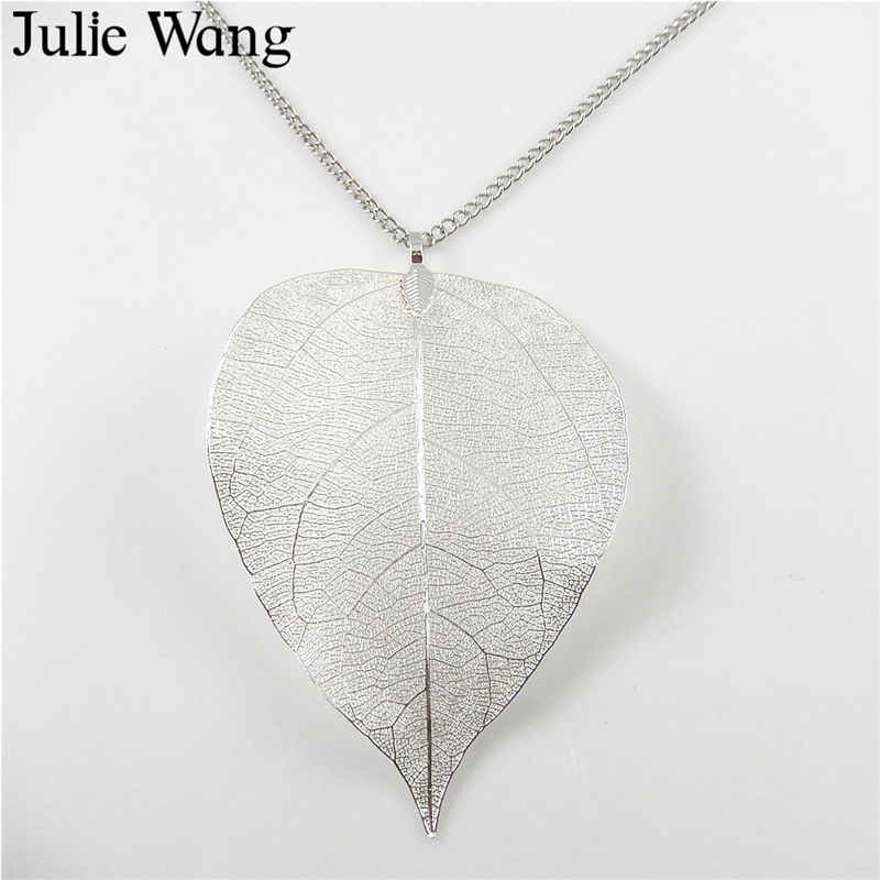 Electroplated Copper//Silver Real Natural Leaf Charms Jewelry Necklace Ear Hooks
